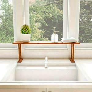 Lavish Home Bamboo Sink Shelf for Countertop